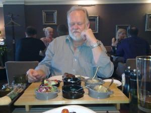 Uffe på restaurang Böff i Vilnius