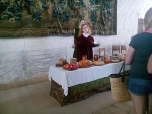 Dukat bord Vadstena slott
