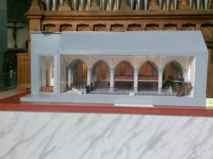 Modell av Vadstena klosterkyrka