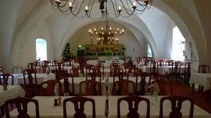 Munkars sovsal på restaurangen Vadstena klosterhotell