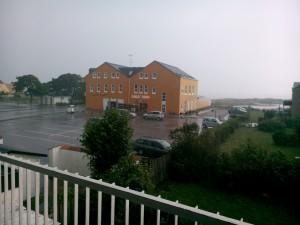 Utsikt från hotell strand Gilleleije