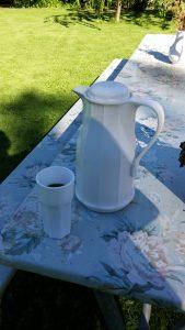 Kaffet serverat höloftet