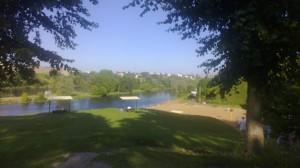 Ö och badstrand  i Narva