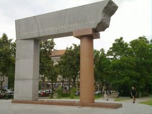 Skulpturer på väg till Skulpurparken i Kleipeda