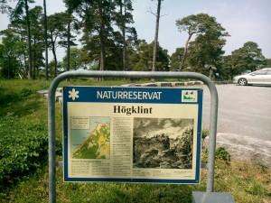 Informationstavla om Hägklint