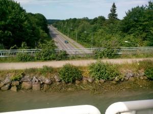 Akvedukt på Göta kanal