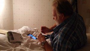 Uffe testar nya kameran