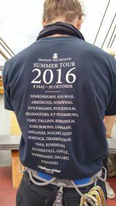 Briggen tre kronors sommarprogram på T-shirt