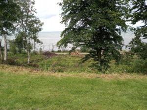 vy Norrvikens Trädgårdar mot Laholmsbukten