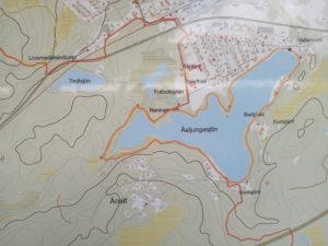 karta över Åslungasjön