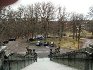 utsikt från trappan teleborgs slott