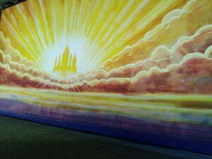 tavla med sol logen Wanås slott