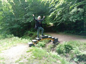 jag står på lilla bron konstnär Stefan Wewerka