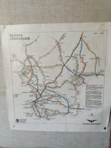 historisk järnvägskarta över skåne