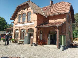 Brösarps station på baksidan