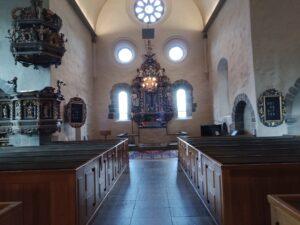 intriör kyrkan Nydala