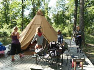 tält fågelboet Camp Oak